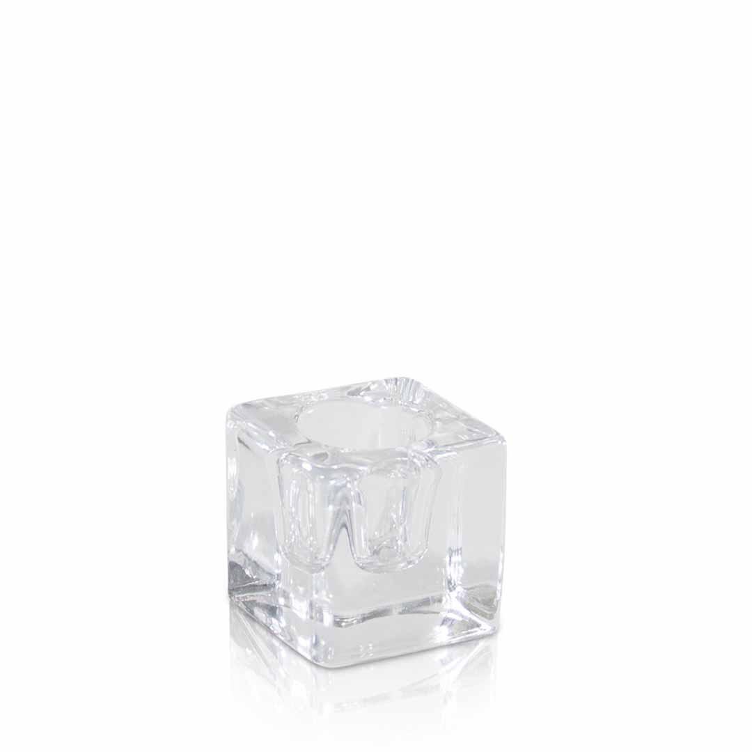 Glass cube 4 cm wide and 4 cm high