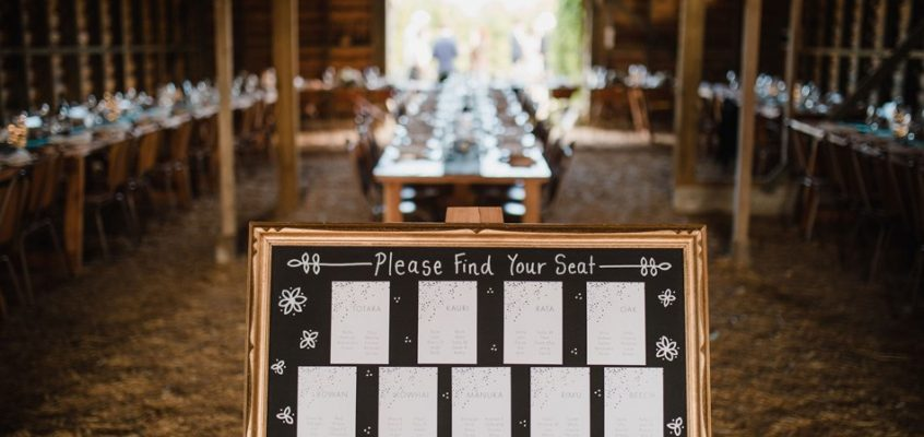 ustic barn wedding seating plan