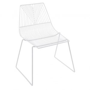 White wire arrow chair