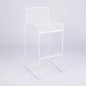 White Wire Bar Stool