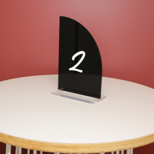 Acrylic Black Table Number