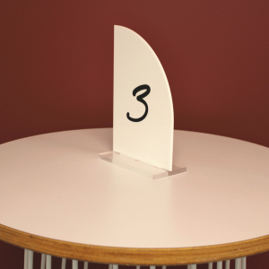 Acrylic White Table Number