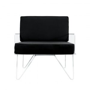 Black Contemporary Lounge Chair