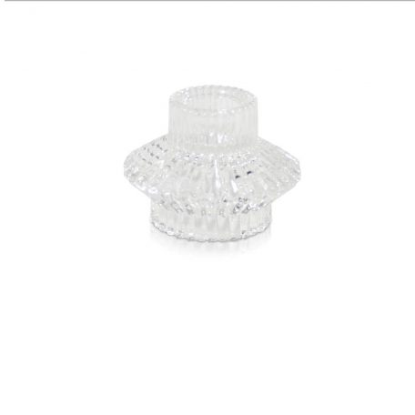 Vintage Glass Candle Holder (Clear)