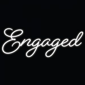 Neon Engaged Sign