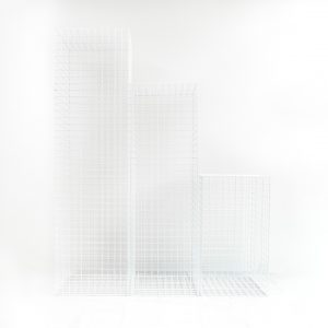 White Wire Plinths