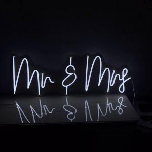 Neon Mr and Mrs Sign