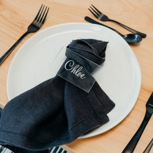Premium Linen Napkins Black