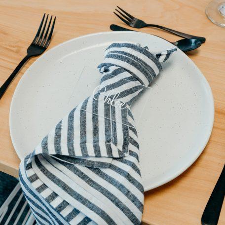 Premium Linen Napkins Stripe