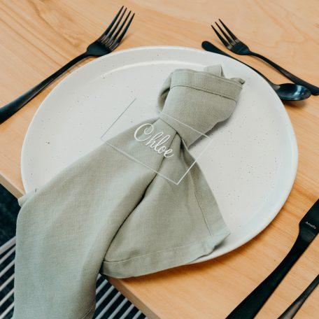 Premium Linen Napkins Sage