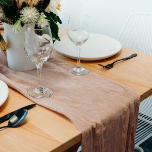 Premium Table Runner - Blush