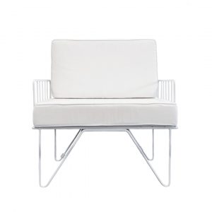 White Contemporary Lounge Chair