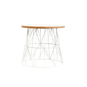 White Wire Side Table
